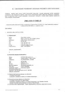 Zmluva o dielo - STAVEX Nitra s.r.o - 1